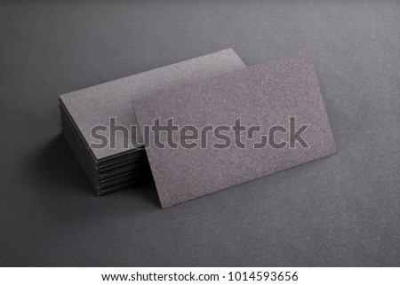 Blank Template Black Business Cards On Stock Illustration - Business card blank template
