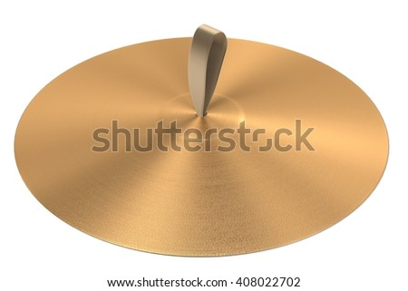 3d rendering of cymbals (musical insturment)
