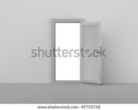 3d rendering of door - stock photo