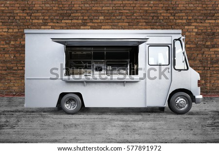 3D rendering of food truck
