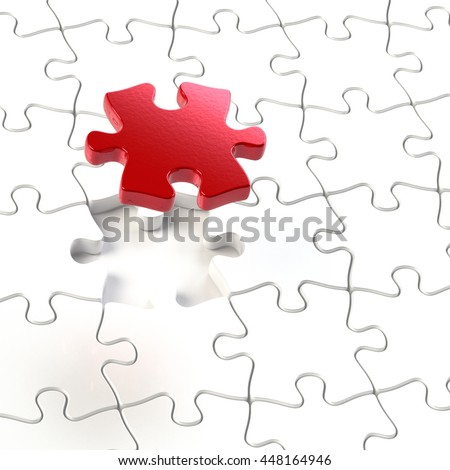 3D rendering of jigsaw puzzle
