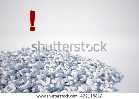 3D rendering of question mark - stock photo