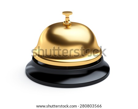 3d rendering of reception bell isolated on white background