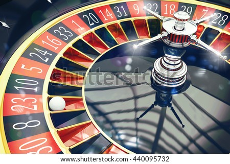 3D Rendering of roulette - stock photo