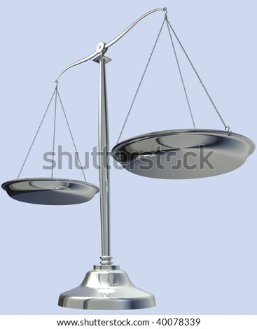 3d rendering of Silver weighing scale on white background.