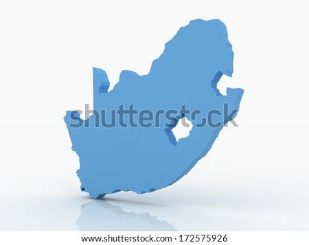Set Maps South Africa Stock Vector 166115378 Shutterstock