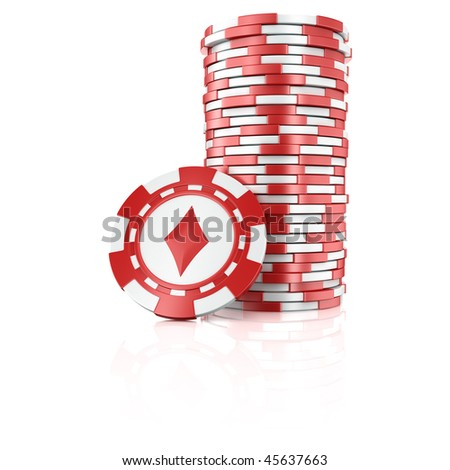 3d rendering of stacks of poker chips