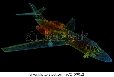 Airbus blueprint rendering stock illustration 3781669 shutterstock 3d rendering of the business jets thermodynamics malvernweather Choice Image