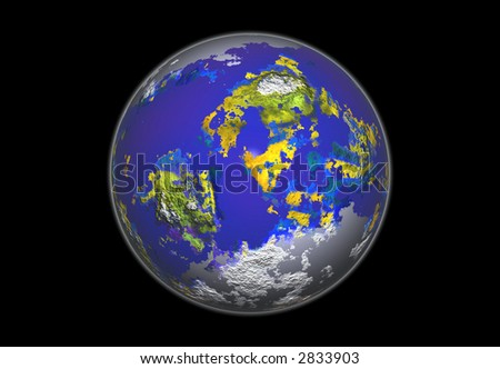 3D Rendering of the Earth - stock photo