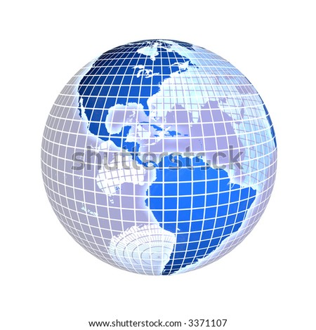 3d rendering of the earth, focus on america. check my portfolio for variations. - stock photo