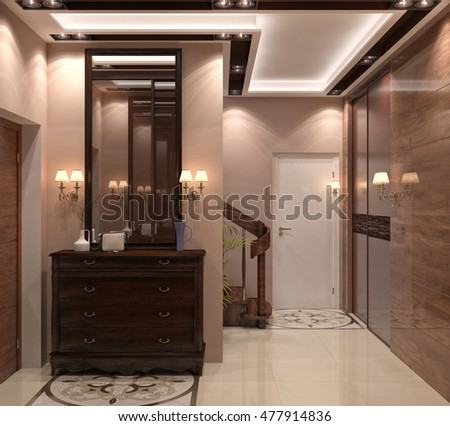 3D rendering of the hallway