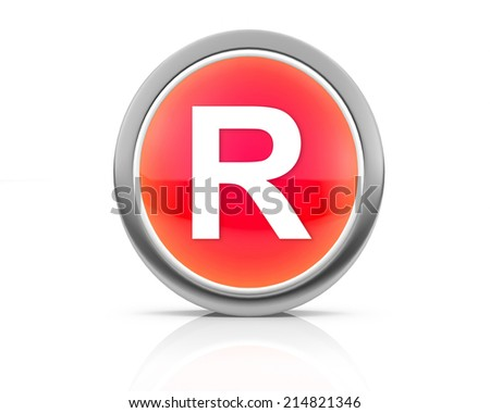 3d rendering of the letter R