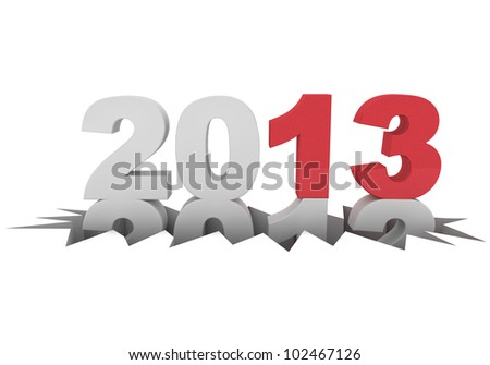 3d rendering of the new year 2013