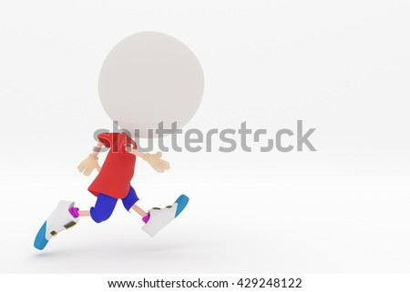3D rendering of the running person