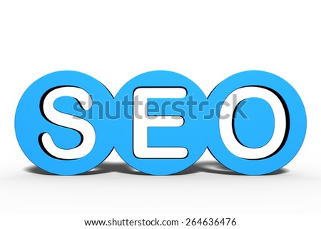 "3D rendering of the word ""SEO"" / Search engine optimization - stock photo"