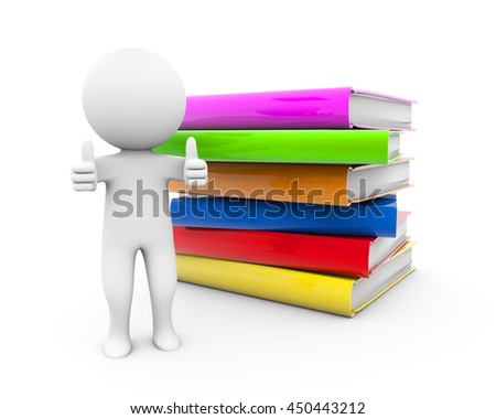 3d Rendering people with books like it