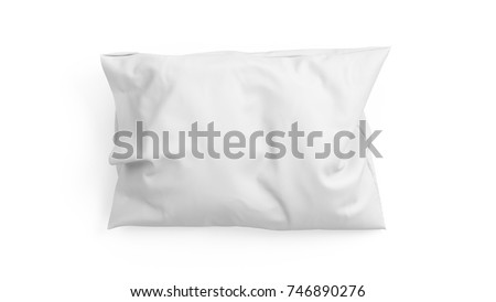 3D rendering pillow isolated on white background