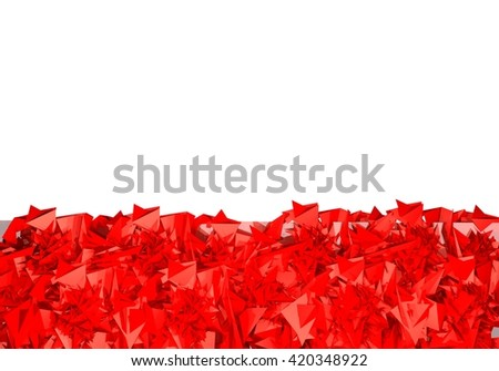 3D rendering red background