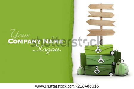 3D rendering travel theme, ideal for customization - stock photo