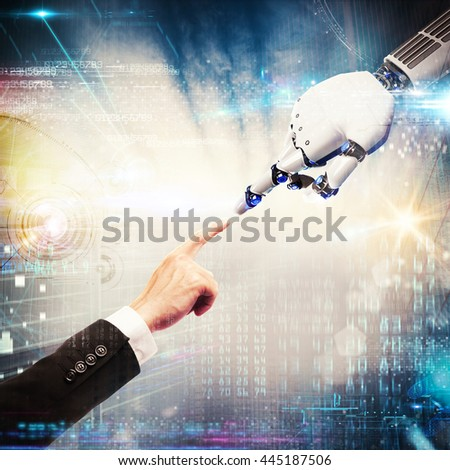 3D Rendering virtual connection - stock photo