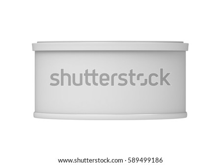 cylinder packaging template - 3d rendering realistic package bag zipper stock
