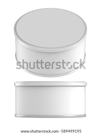 3d rendering white carton cylinder box stock illustration for Cylinder packaging template