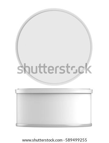 3d Rendering White Carton Cylinder Box Stock Illustration ...