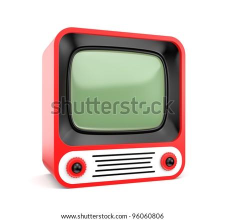 3d Retro TV - stock photo