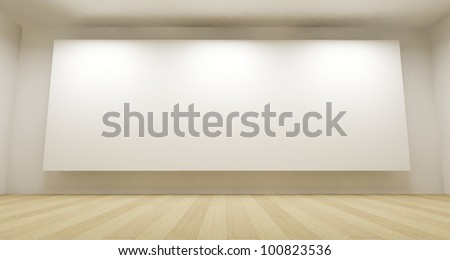 3d room with white backdrop, clean space - stock photo