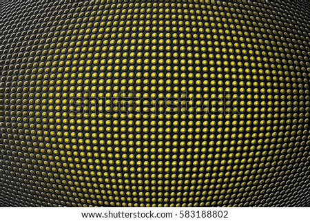 3D round shape on metallic panel