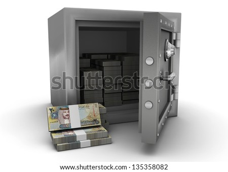 3D safe and Bahrain money