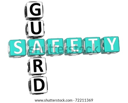 3D Safety Guard Crossword on white background - stock photo