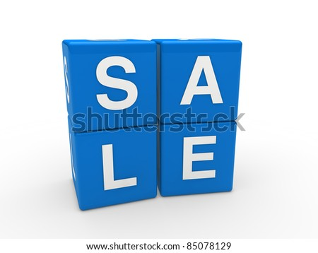 3d sale cube blue discount word business