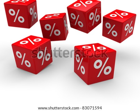 3d sale red cube fall discount buy