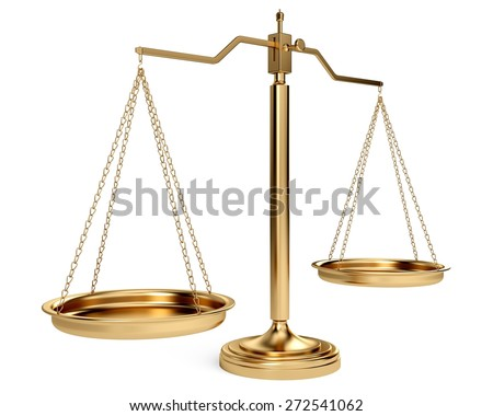 3D. Scales of Justice, Weight Scale, Law. - stock photo