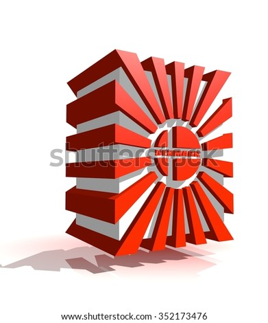 3d shape from Denmark national flag elements. Image for Constitution Day celebration. 5 june Denmark national holiday.  - stock photo