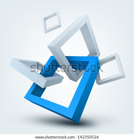 3d shapes - stock photo