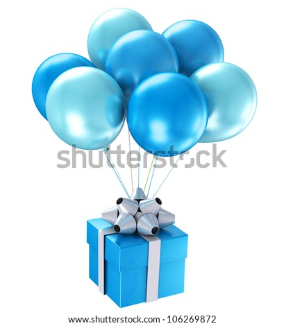 3d shiny ballons. Best for small scale. - stock photo