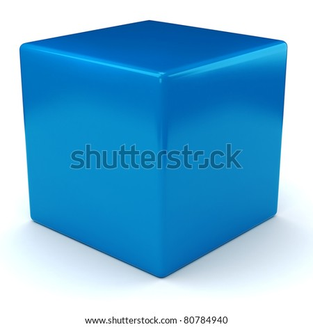 3d shiny colorful cubes, on white background - stock photo