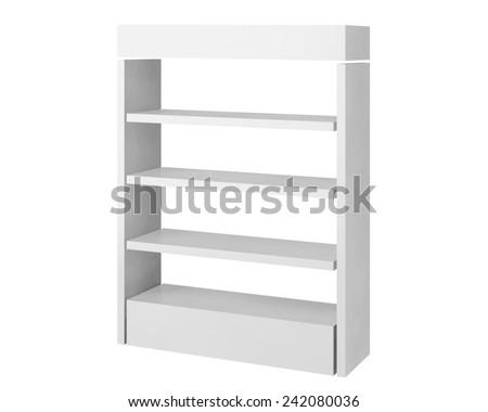 3D shop shelves - stock photo