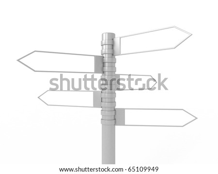 3d signpost isolated on white background - stock photo