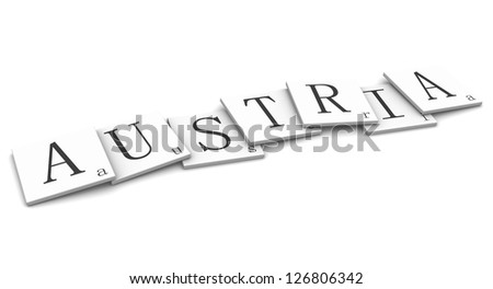 3D Signs word: Austria - stock photo