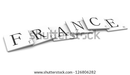 3D Signs word: France - stock photo