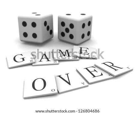 3D Signs word: Game Over