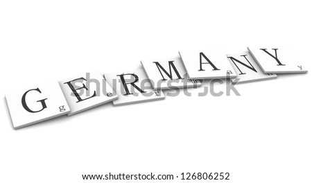 3D Signs word: Germany - stock photo