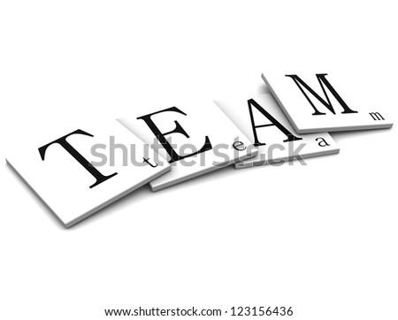 3D Sigs Word team - stock photo