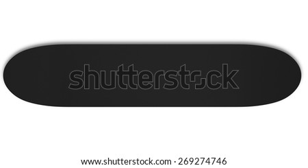 3d skateboard isolated on a white background. - stock photo