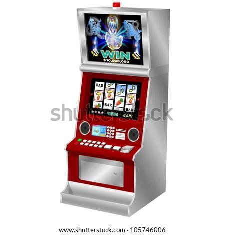 3D slot machine (digital type). - stock photo