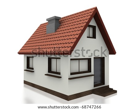 3d small home - stock photo