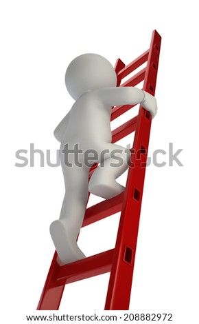 3d small people - above - stock photo
